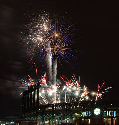 Photograph - Fireworks At The Field by Kevin Munro