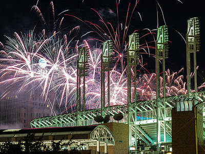 Photograph - Fireworks At The Jake by Stewart Helberg