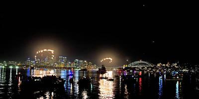 Photograph - Fireworks Beginning by Miroslava Jurcik