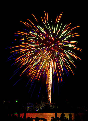 Art Print featuring the photograph Fireworks by Bill Barber