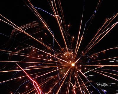 Photograph - Fireworks Blast #0703 by Barbara Tristan