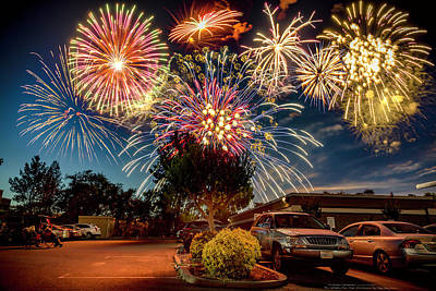 Photograph - Fireworks Celebration by PhotoWorks By Don Hoekwater
