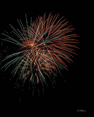 Photograph - Fireworks by Christopher Holmes