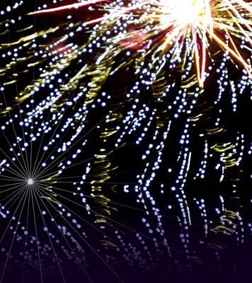Photograph - Fireworks by Dietmar Scherf