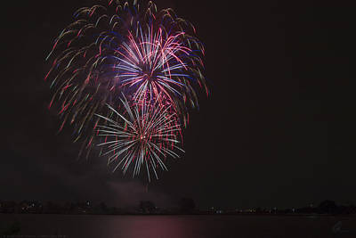 Photograph - Fireworks Display 3 by Chris Thomas