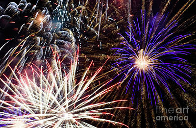 Photograph - Fireworks Display by Colin Rayner