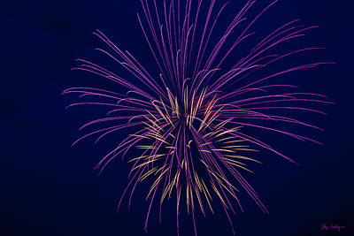Photograph - Fireworks Display by Skip Tribby