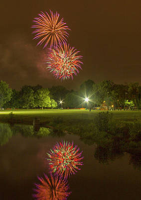 4th July Photograph - Fireworks During Fair St Louis by Garry McMichael