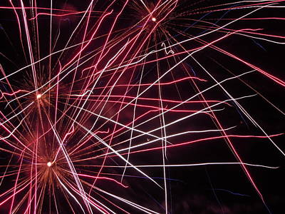 Photograph - Fireworks Eight by Nancy Griswold