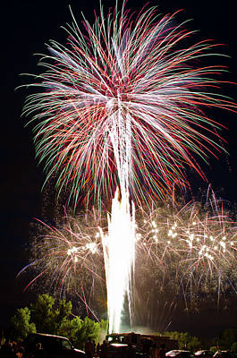 Fireworks Art Print by Ernesto Grossmann