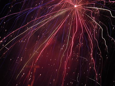 Photograph - Fireworks Five by Nancy Griswold
