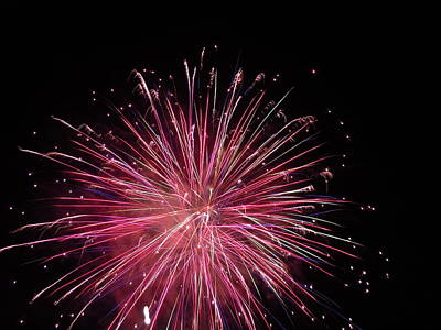Photograph - Fireworks Four by Nancy Griswold