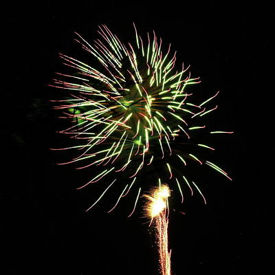 Photograph - Fireworks From A Boat - 8 by Jeffrey Peterson