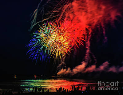 Photograph - Fireworks From The Music Pier by Nick Zelinsky