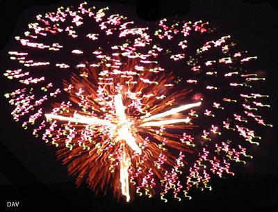 Photograph - Fireworks Fun by Debra     Vatalaro