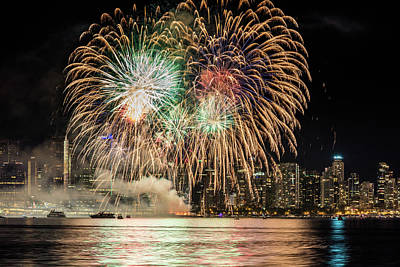 Photograph - Fireworks Grand Finale by Pierre Leclerc Photography