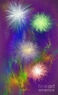 Painting - Fireworks by Greg Moores