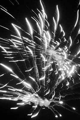 Photograph - Fireworks In Black And White 2 by Kelly Hazel