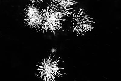 Photograph - Fireworks In Black And White 3 by Kelly Hazel