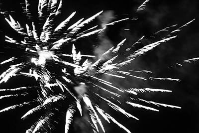 Photograph - Fireworks In Black And White 4 by Kelly Hazel