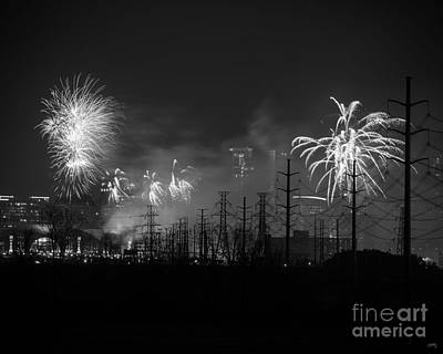 Photograph - Fireworks In Black And White by Imagery by Charly