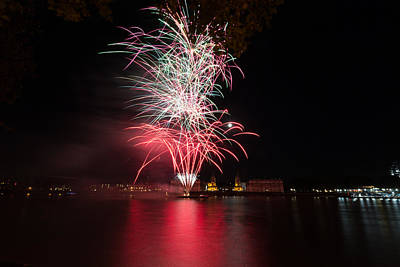 Photograph - Fireworks In Greenwich  by Andrew Lalchan