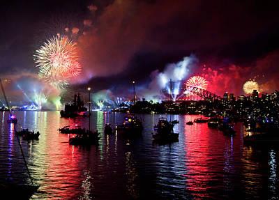 Photograph - Fireworks In Sydney by Miroslava Jurcik