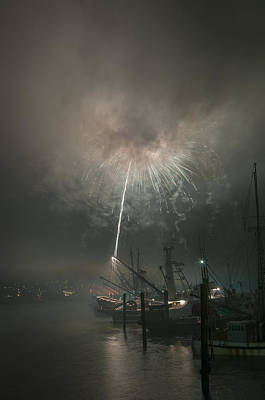 Photograph - Fireworks In The Fog by Robert Potts