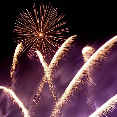 Fireworks In The Night Art Print