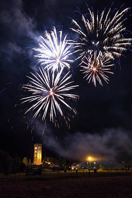 Photograph - Fireworks In Tuscany by Matteo Viviani