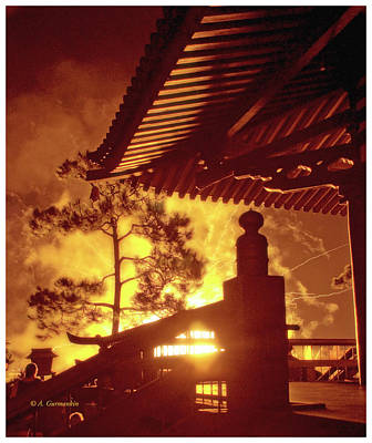 Photograph - Fireworks, Japan Pavilion, Epcot, Walt Disney World by A Gurmankin