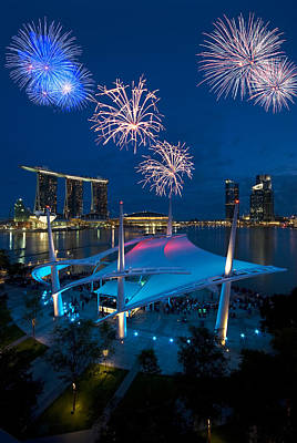 Fireworks Photograph - Fireworks by Ng Hock How