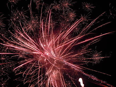 Photograph - Fireworks Nine by Nancy Griswold
