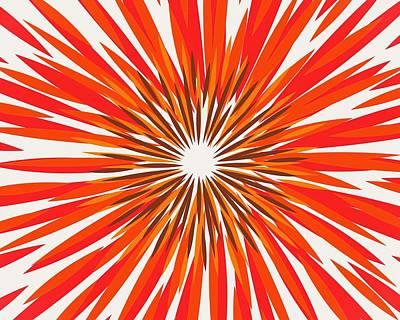 Flower Digital Art - Fireworks No. 1-1 by Sandy Taylor