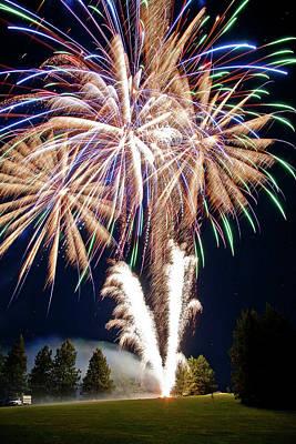 Washington Photograph - Fireworks No.4 by Niels Nielsen