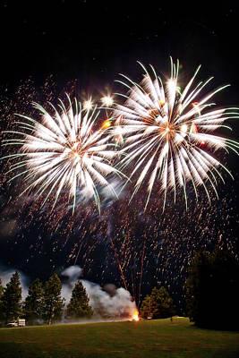 Fireworks No.5 Art Print by Niels Nielsen