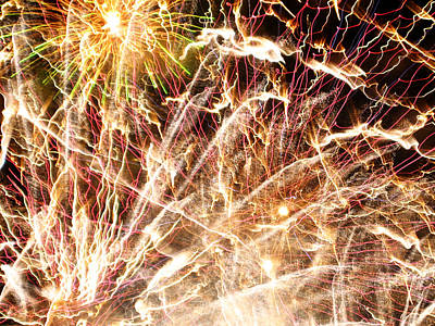 Fireworks Art Print by Oliver Johnston