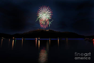 Photograph - Fireworks On Cheat Lake  by Dan Friend