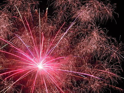 Photograph - Fireworks One by Nancy Griswold