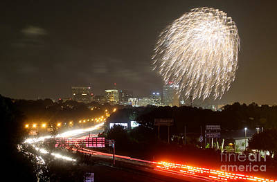 Photograph - Fireworks Over Columbia Sc 1 by Joseph C Hinson Photography