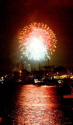 Photograph - Fireworks Over Dana Point Harbor by Glenn McCarthy Art and Photography