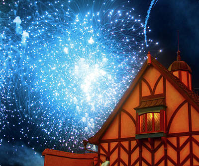 Photograph - Fireworks Over Fantasyland by Mark Andrew Thomas