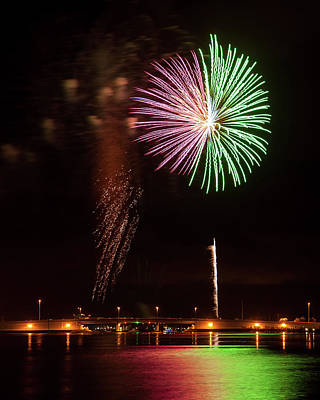 Photograph - Fireworks Over Grand Lagoon by Daryl Clark