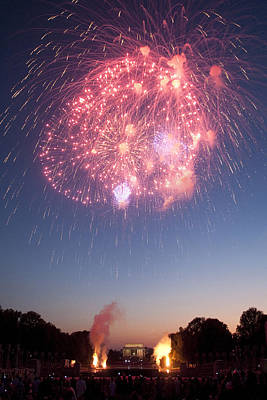 Photograph - Fireworks Over Lincoln by Colleen Joy