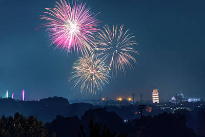 Photograph - Fireworks Over Pisa by Matteo Viviani