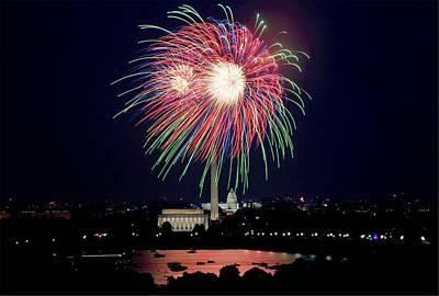 Fireworks Over The Pentagon Art Print