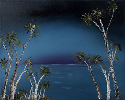 Painting - Fireworks Palms by Stephen Daddona