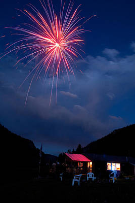 Photograph - Fireworks Show In The Mountains by James BO Insogna