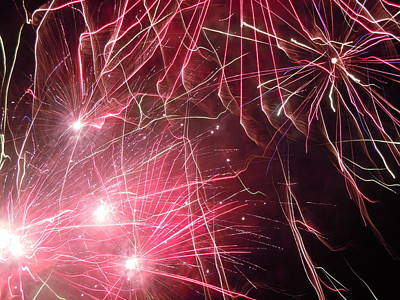 Photograph - Fireworks Six by Nancy Griswold