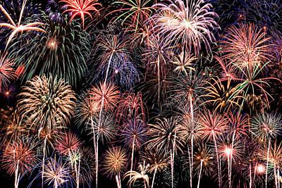 Blend Photograph - Fireworks Spectacular II by Ricky Barnard